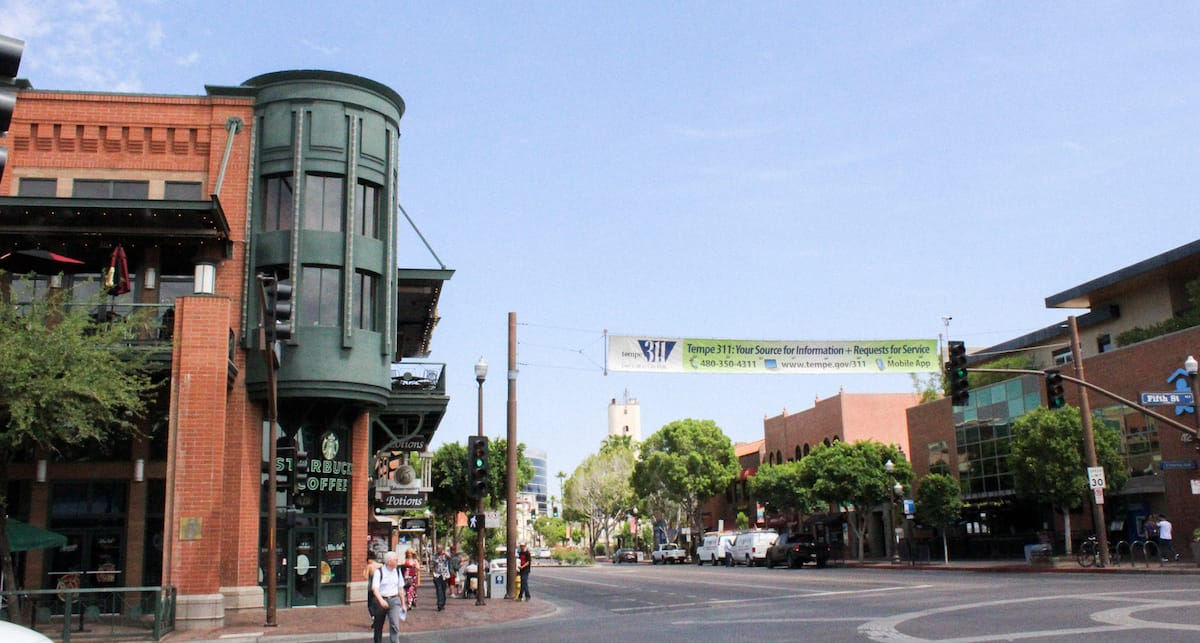 Mill Ave in Downtown Tempe