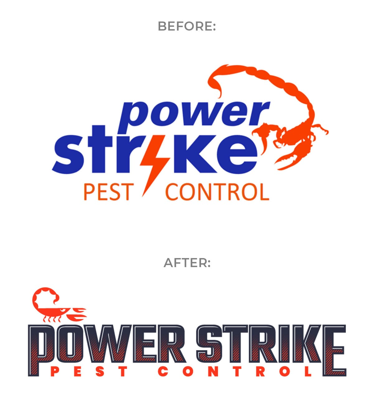 Power Strike Pest Control New Logo Design by Motion Tactic - Business Rebranding