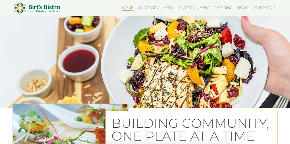 Birt's Bistro website redesign and development by Motion Tactic in Tempe, Arizona - Website Navigation Setup