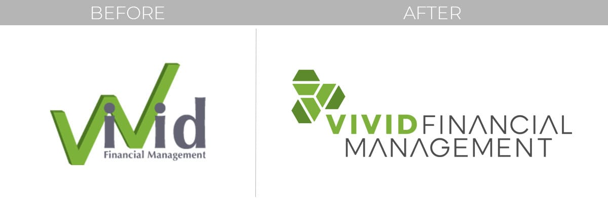 Vivid Financial Management website and logo redesign and redevelopment by Motion Tactic - Unforgettable Brand