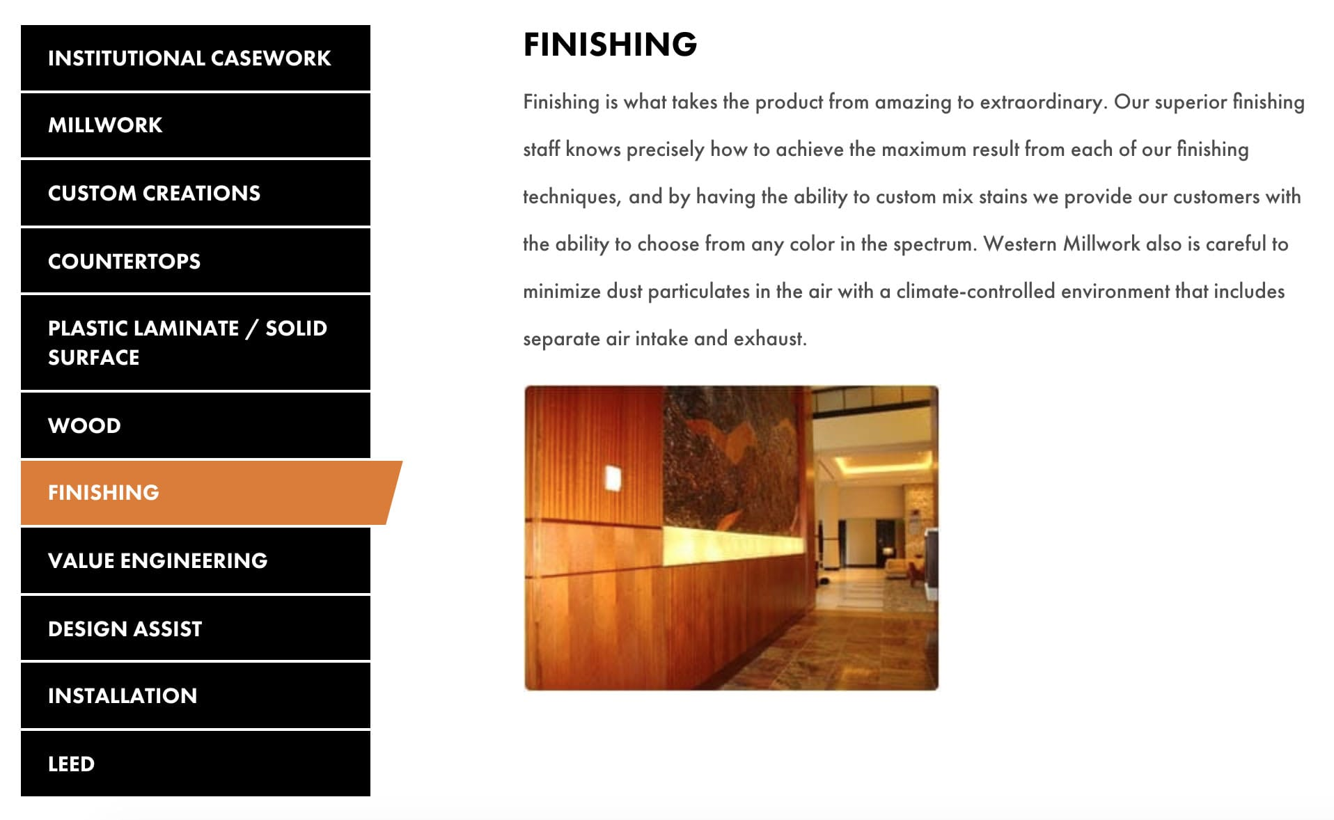 Western Millwork Custom Website - Motion Tactic